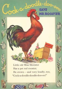 Cock-a-doodle-doo Says Rooster