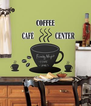 Coffee Cup Chalkboard Peel & Stick Wall Decals