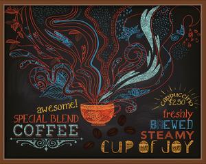 Coffee Shop Blackboard Ad