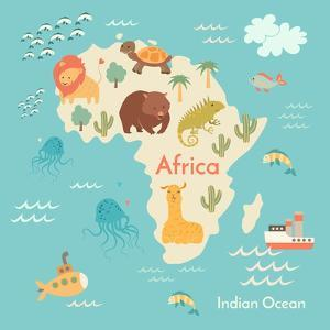 Animals World Map Africa by coffeee_in