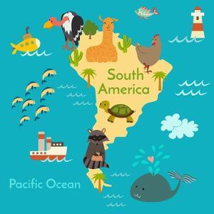 Animals World Map Sorth America by coffeee_in