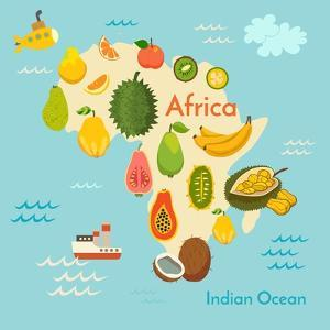 Fruit World Map Africa by coffeee_in