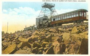 Cog Wheel Train, Pike's Peak, Colorado