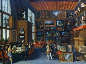 Cognoscenti in a Room Hung with Pictures, C1620