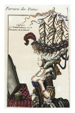 Coiffure a l'Independance (Caricature on the Hairstyles of the Late Rococo), c.1780