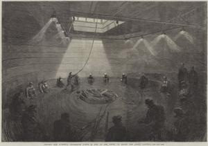 Coiling the Atlantic Telegraph Cable in One of the Tanks on Board the Great Eastern