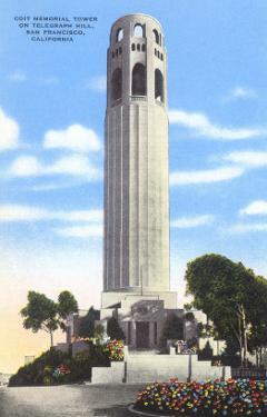 Coit Memorial Tower, Telegraph Hill, San Francisco, California