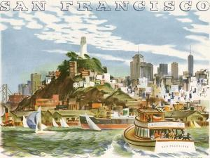 Coit Tower and North Beach. San Francisco