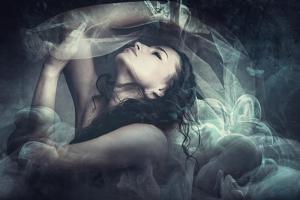 Fairy Like Fantasy Woman With Veil by coka