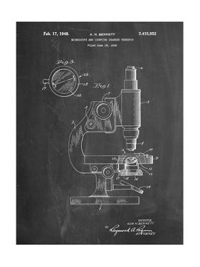 Antique Microscope Patent by Cole Borders