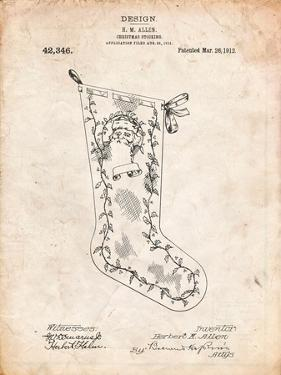 Christmas Stocking 1912 Patent by Cole Borders
