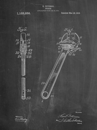Crecent Wrench 1915 Patent by Cole Borders