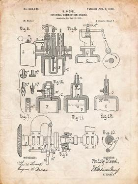 Diesel Engine Patent by Cole Borders