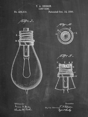 Edison Lamp Base Patent Print by Cole Borders