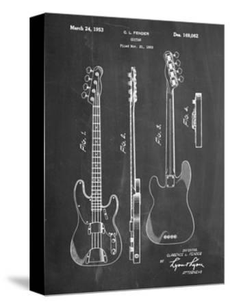 Fender Precision Bass Guitar Patent by Cole Borders