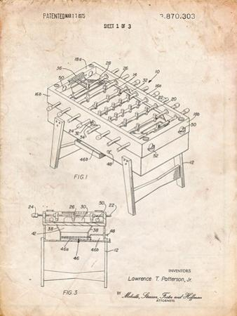 Foosball Table Patent by Cole Borders