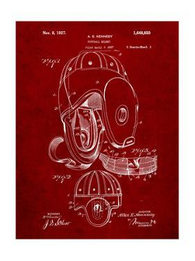 Football Leather Helmet Patent by Cole Borders