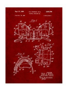 Football Shoulder Pads Patent by Cole Borders