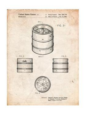 Miller Beer Keg Patent by Cole Borders
