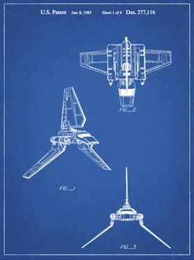 PP100-Blueprint Star Wars Lambda Class T-4a Imperial Shuttle Patent Poster by Cole Borders
