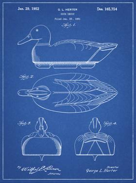 PP1001-Blueprint Propelled Duck Decoy Patent Poster by Cole Borders