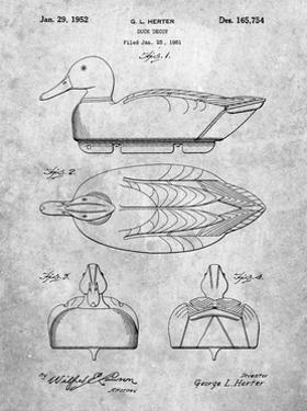 PP1001-Slate Propelled Duck Decoy Patent Poster by Cole Borders