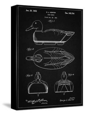 PP1001-Vintage Black Propelled Duck Decoy Patent Poster by Cole Borders