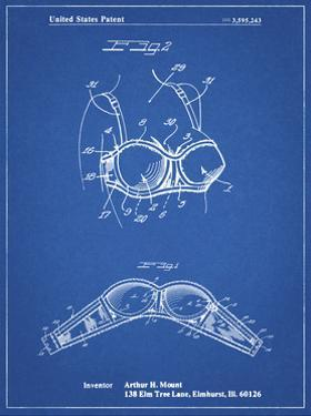 PP1004-Blueprint Push-up Bra Patent Poster by Cole Borders