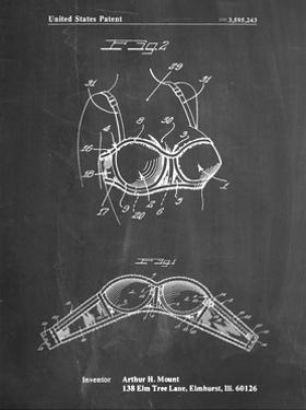 PP1004-Chalkboard Push-up Bra Patent Poster by Cole Borders