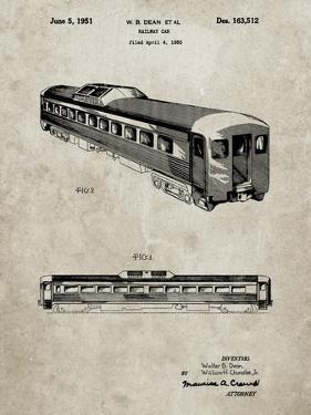 PP1006-Sandstone Railway Passenger Car Patent Poster by Cole Borders