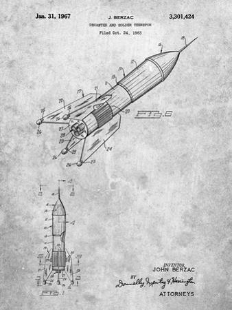 PP1016-Slate Rocket Ship Concept 1963 Patent Poster by Cole Borders