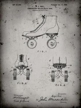 PP1019-Faded Grey Roller Skate 1899 Patent Poster by Cole Borders