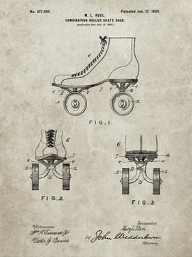PP1019-Sandstone Roller Skate 1899 Patent Poster by Cole Borders
