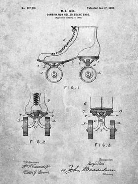 PP1019-Slate Roller Skate 1899 Patent Poster by Cole Borders