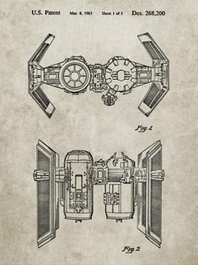 PP102-Sandstone Star Wars TIE Bomber Patent Poster by Cole Borders