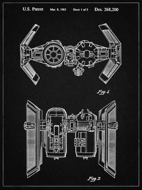 PP102-Vintage Black Star Wars TIE Bomber Patent Poster by Cole Borders