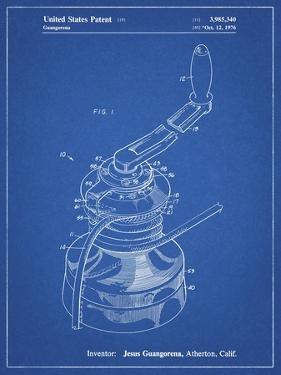 PP1027-Blueprint Sailboat Winch Patent Poster by Cole Borders