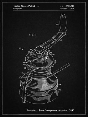 PP1027-Vintage Black Sailboat Winch Patent Poster by Cole Borders