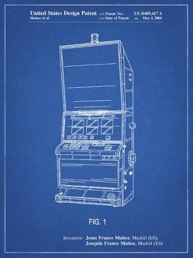 PP1043-Blueprint Slot Machine Patent Poster by Cole Borders