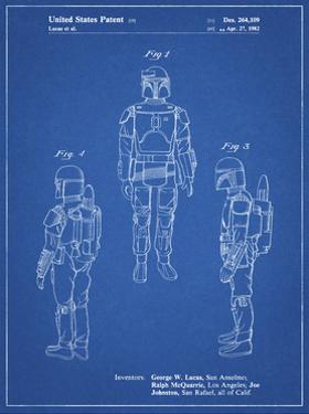 PP1055-Blueprint Star Wars Boba Fett Patent Poster by Cole Borders