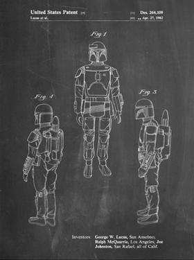 PP1055-Chalkboard Star Wars Boba Fett Patent Poster by Cole Borders