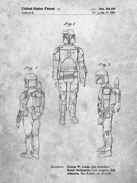 PP1055-Slate Star Wars Boba Fett Patent Poster by Cole Borders