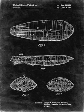 PP1056-Black Grunge Star Wars Rebel Transport Patent Poster by Cole Borders