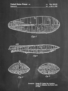 PP1056-Chalkboard Star Wars Rebel Transport Patent Poster by Cole Borders