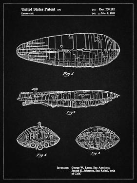 PP1056-Vintage Black Star Wars Rebel Transport Patent Poster by Cole Borders