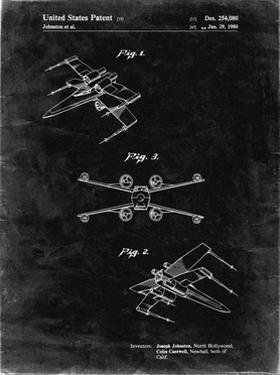 PP1060-Black Grunge Star Wars X Wing Starfighter Star Wars Poster by Cole Borders