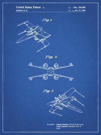 PP1060-Blueprint Star Wars X Wing Starfighter Star Wars Poster