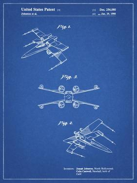 PP1060-Blueprint Star Wars X Wing Starfighter Star Wars Poster by Cole Borders