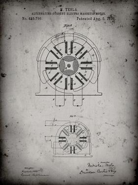 PP1092-Faded Grey Tesla Coil Patent Poster by Cole Borders