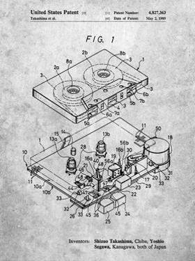 PP1104-Slate Toshiba Cassette Tape Recorder Patent Poster by Cole Borders